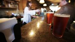 London bar scene - stock footage