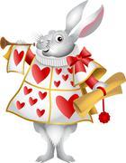 White Rabbit Herald Stock Illustration