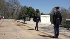 Arlington National Cemetery Guard of Honor inspection 1 4K 019 Stock Footage