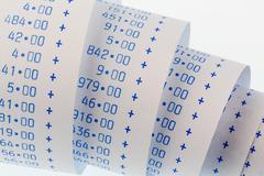 Computing strips of calculator Stock Photos