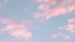 pink clouds - stock footage