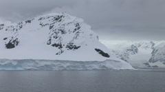 Slow sailing pass antarctic scenery in Paradise Harbour, Antarctica Stock Footage