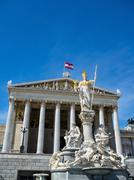 Austria, vienna, parliament Stock Photos
