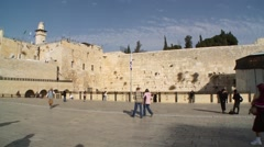 Square at Western Wall Stock Footage