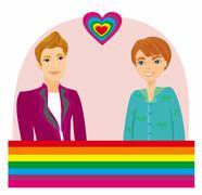 Gay Couple Stock Illustration