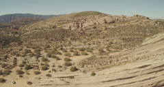 Aerial Shot of Vasquez Rocks Stock Footage