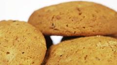 Oatmeal cookies Stock Footage