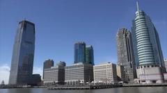 Hudson River Waterfront Walkway & J. Owen Grundy Park Stock Footage