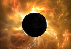 Total eclipse of the Sun - stock illustration
