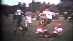 (8mm Vintage) High School Football - stock footage