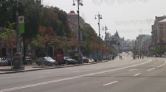 UKRAINE. KIEV. AUGUST 2011: Khreshchatyk street - stock footage