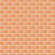 Stock Illustration of Red brick wall vector illustration background. Texture pattern