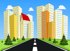 Stock Illustration of Abstract vector city.
