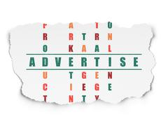 Stock Illustration of Advertising concept: word Advertise in solving Crossword Puzzle