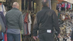 People walking around, seen from the back Stock Footage
