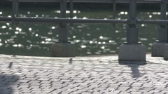 Sparkles and glitters on a pier Stock Footage