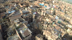 Drone shots at Bhaktapur Nepal after the earthquake Stock Footage