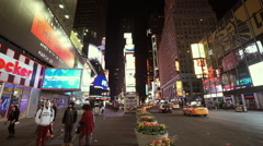 Times Square Manhattan - wide angle shot Stock Footage