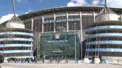 Etihad Stadium Manchester Stock Footage