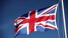 UK Union flag (Union Jack) Stock Footage