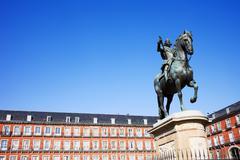 Plaza Mayor in Madrid - stock photo