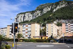 Residential Buildings in Gibraltar - stock photo