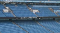 Etihad Stadium Inside Stock Footage