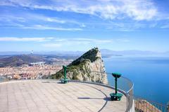 Gibraltar Rock Vantage Point - stock photo