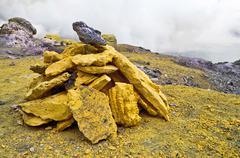 Sulfur Stones - stock photo