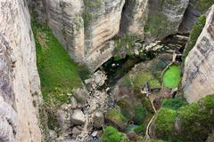 El Tayo River Gorge in Ronda - stock photo