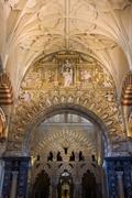 Stock Photo of Mezquita Cathedral Interior in Cordoba