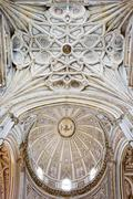 Mezquita Cathedral Ceilings in Cordoba Stock Photos