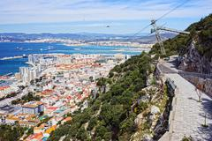 Gibraltar Cityscape Stock Photos