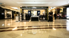 Dior Booth in Suria KLCC Mall Timelapse Stock Footage