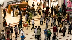 Timelapse of People Inside Suria KLCC Mall Stock Footage