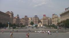 UKRAINE. KIEV. AUGUST 2011: Maidan Nezalezhnosti - stock footage