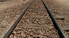 Rails in the middle of nowhere in Bolivia Stock Footage