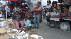 Traditional market in Otavalo, Ecuador Stock Footage