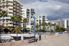 Marbella Apartment Buildings - stock photo