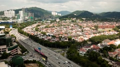 Timelapse of Damansara Petaling Jaya Stock Footage
