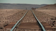 Rails in the Salar de Chiguana, Bolivia Stock Footage