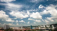 Timelapse of Clouds Over PJ City in Malaysia Stock Footage