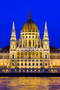 Stock Photo of Budapest Parliament at Twilight