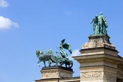 Millennium Monument in Budapest - stock photo