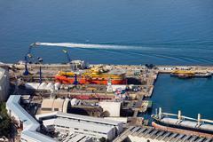 Shipyard in Gibraltar Stock Photos