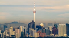 Timelapse of Kuala Lumpur Tower in KL, Malaysia. Stock Footage