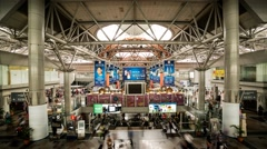 Timelapse Inside KL Train Central Station in Kuala Lumpur Stock Footage