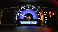 Close up of car dashboard and Odometer - stock footage