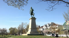 Fredericksburg Virginia Historic Mercer Monument 4K Stock Footage