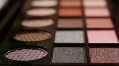 Color Cosmetic Palette 4 Stock Footage